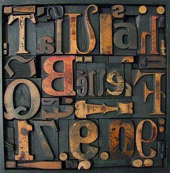 Memory Blocks: Vintage Letterpress Montage