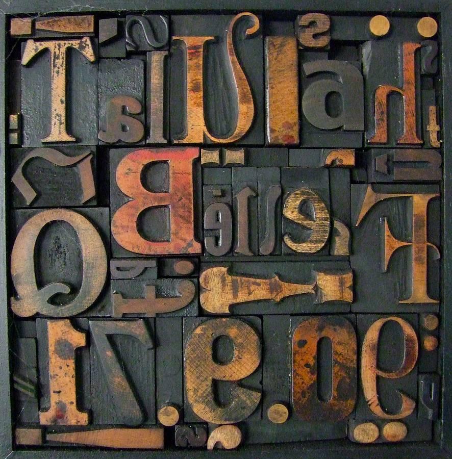 Memory Blocks Vintage Letterpress Montage By Home Amp Glory