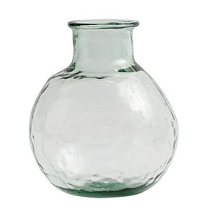 Round Reclycled Glass Vase By Nordal - botanical dining