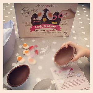 Make Your Own Chocolate Easter Eggs Kit - children's cooking