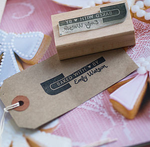 'Baked With Love' Personalised Stamp
