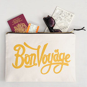 'Bon Voyage' Travel Pouch - honeymoon accessories