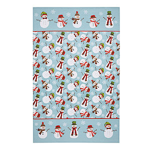Christmas Snowmen Cotton Tea Towel - kitchen accessories