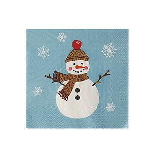 Christmas Snowmen Paper Napkins Pk20 - table linen