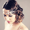 Crystal And Pearl Forehead Band