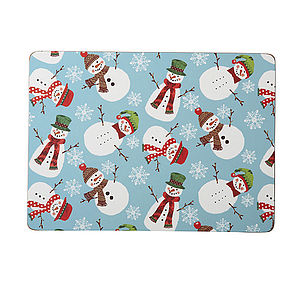 Christmas Snowmen Placemats Pk4 - dining room