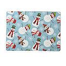 Christmas Snowmen Placemats Pk4