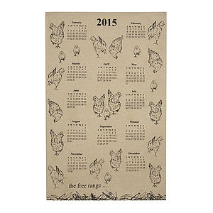 Dawn Critchley Free Range 2015 Tea Towel - kitchen accessories