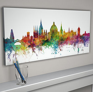 Oxford England Skyline Cityscape - canvas prints & art