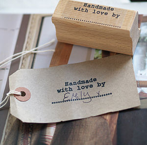 'Handmade With Love By' Stamp