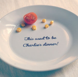 'All Gone' Personalised Kids Dinner Plate