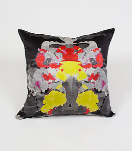 Ink Shadow Cushion - patterned cushions