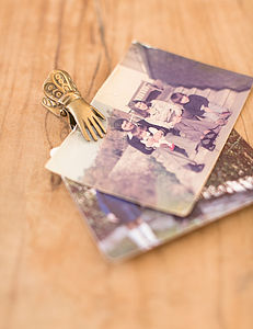 Antique Hand Paperclip - baby's room