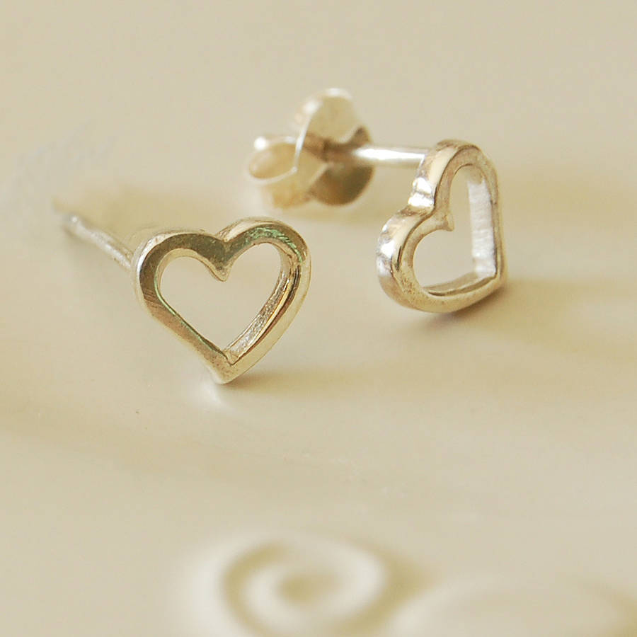 jewellery earrings michael kors heart from silver image