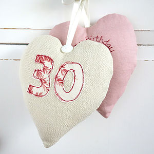 Personalised Numbered Heart Decoration - lavender bags