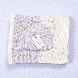 Unisex Baby Blanket And Hat Gift Sets