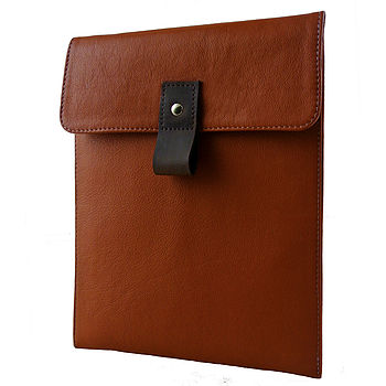 Tan Leather Case For iPad
