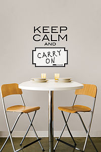 Keep Calm Wall Sticker - office & study