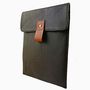 Chocolate Handcrafted Leather iPad Case