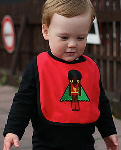 Organic Cotton Bib With Afro Supa Hero
