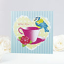 Vintage Bird With Love Greeting Card