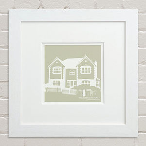 Bespoke House Silhouette Print