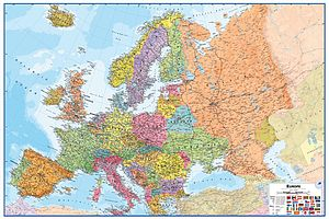 Map Of Europe Wall Sticker - wall stickers