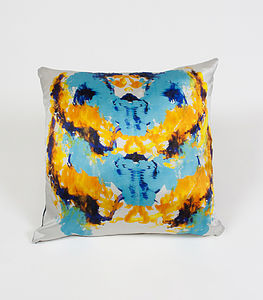 Ink Cube Cushion - patterned cushions