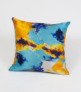 Ink Bunker Cushion - patterned cushions