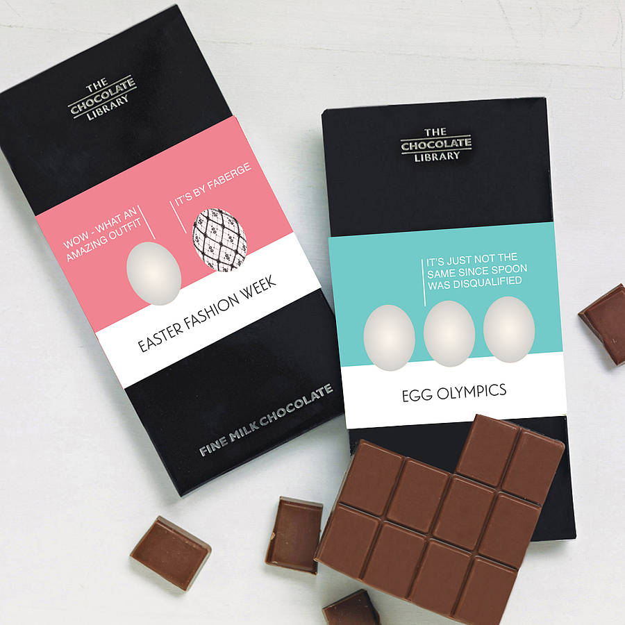 Personalised Funny Easter Egg Chocolate Bars