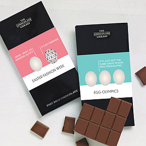 Personalised Funny Easter Egg Chocolate Bars - easter chocolates