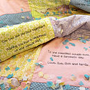 Personalised message quilt in pastels