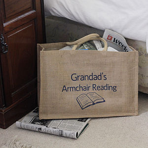 Personalised Reading Bag - laundry room