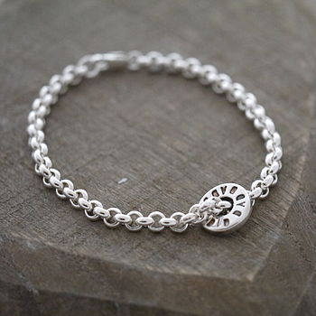 Silver Chain Washer Bracelet