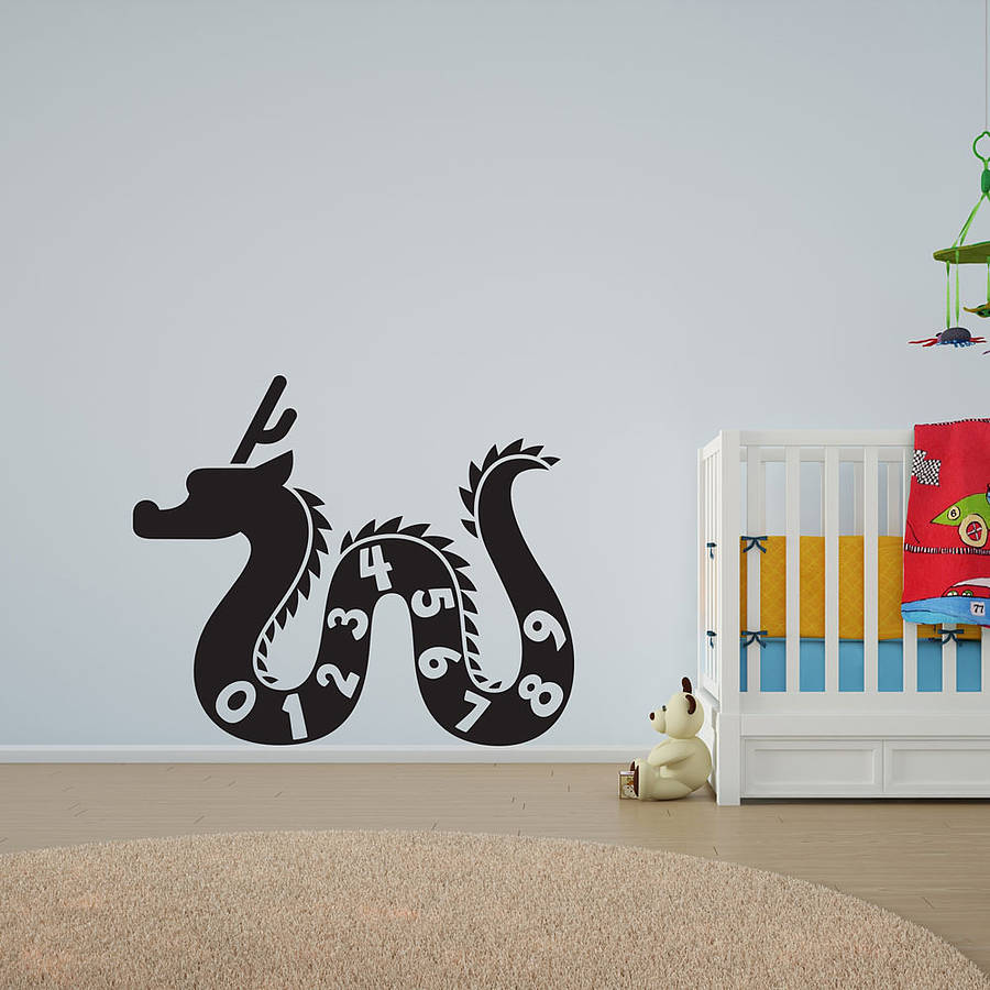 Dragon Numbers Vinyl Wall Art Decal For Kids By Vinyl Revolution