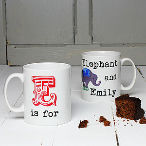 Personalised A Is For . . . Mug - mugs