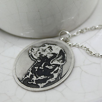 Personalised Silver Pet Photo Pendant