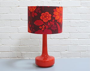 Bell Bottom Table Lamp With Vintage Shade