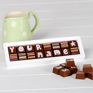 Personalised Chocolates In A Small Box - food & drink gifts
