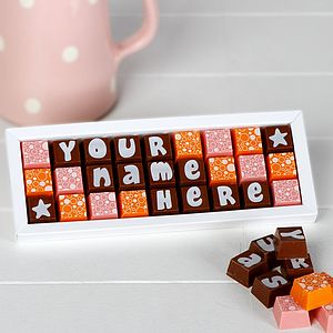 Personalised Chocolates In A Medium Box