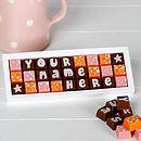 Personalised Chocolates In A Medium Box
