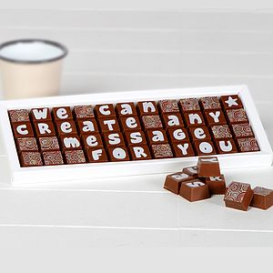 Personalised Chocolates In A Large Box