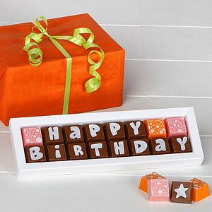 HAPPY BIRTHDAY Chocolates - birthday gifts