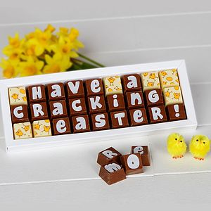 Personalised Chocolates For Easter - easter treats