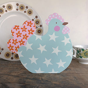 Personalised Wooden Easter Hen - easter home
