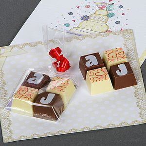 Personalised Chocolate Squares - wedding favours