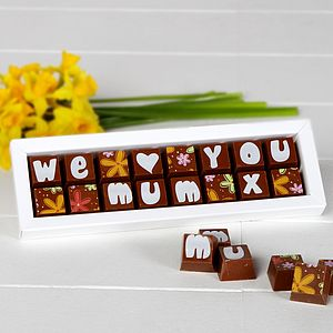 Chocolate Gift Personalised For Mum, Mom Or Maman