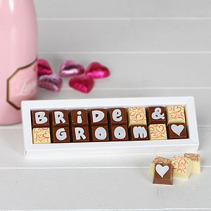 Personalised Chocolates For WEDDINGS - gifts to eat and drink