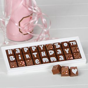 Personalised Birthday Chocolate Box - best gifts under £50