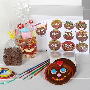 Chocolate Funny Faces Kit For Children - baking kits